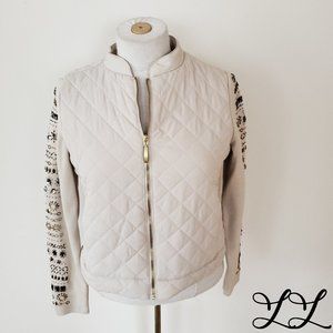 Zenergy Chico Jacket Beige Quilted Jewels Knit
